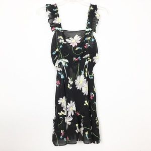 Betsey Johnson Babydoll Apron Floral Dress